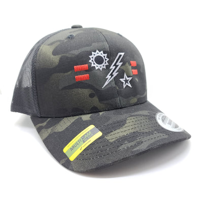 2d Ranger Bn Tick Multicam Black Trucker