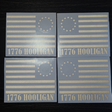 1776 Hooligan Flag Sticker