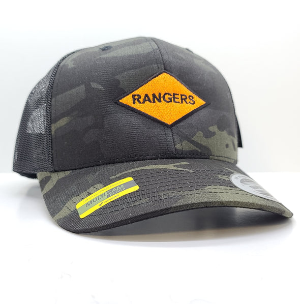 Rangers Orange Diamond Multicam Black