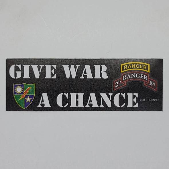 Sticker - Give War A Chance