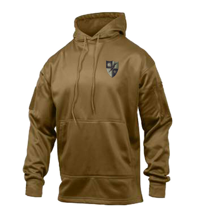 Coyote Brown 75th DUI Shield Conceal Carry Hoodie