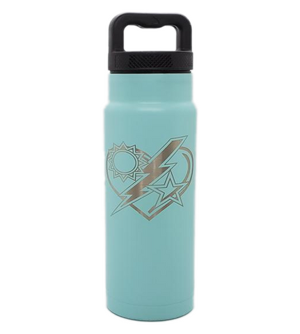 24oz Water Bottle - 75th DUI Heart