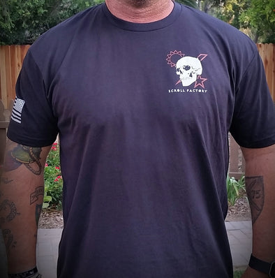 Shirt - Scroll Skull DUI