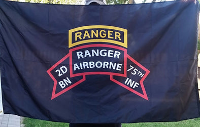 Flag - 2d Ranger Bn Old Scroll