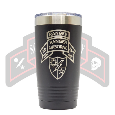 Tumbler - 2d Ranger Bn Old Scroll