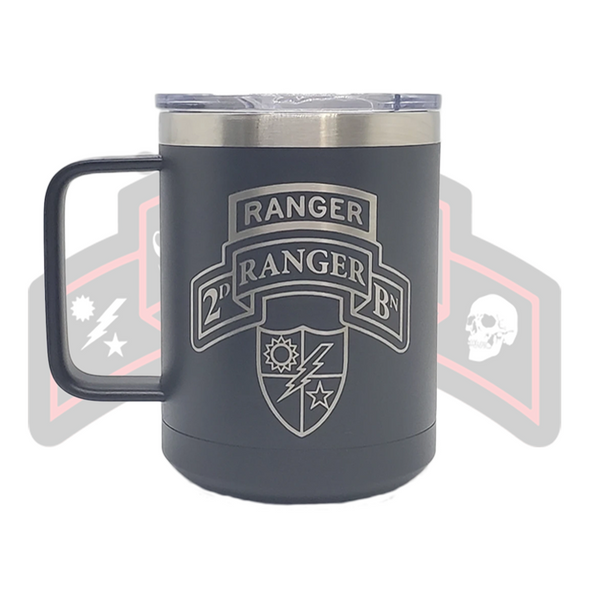 2d Ranger Bn Scroll and Tab Tumbler