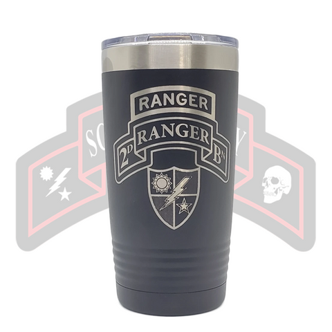2d Ranger Bn Tab Scroll Tumbler