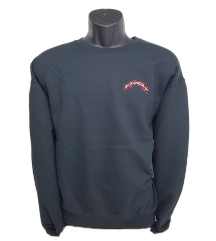Crew Sweat Top - 2d Ranger Bn Scroll