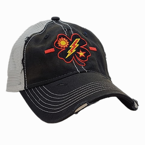Black Clover 1st Bn Tick Black Weathered Trucker