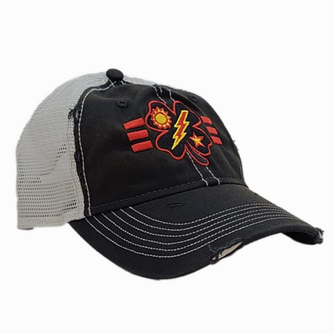 Black Clover 3d Bn Tick Black Weathered Trucker
