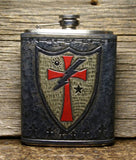 Flask - Crusader DUI Leather wrap