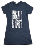 Ladies DUI Flag Shirt