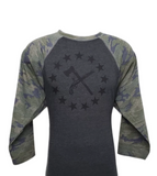 Founding Fathers Camo 3/4 Sleeve shirt