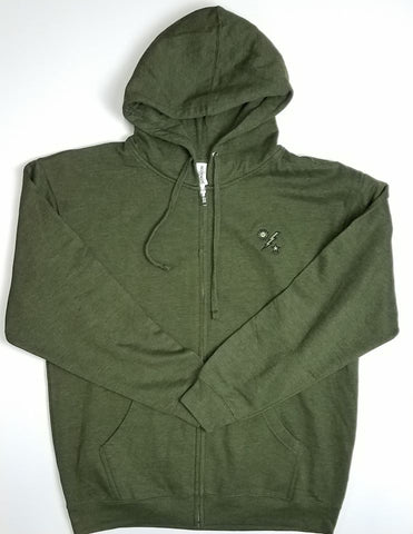 Hoodie - Independent 75th DUI Outline - Army Heather