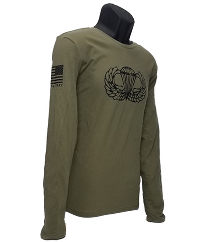 Vintage Basic Airborne Wings Long Sleeve