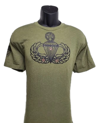 Three Combat Jump Wing Shirt