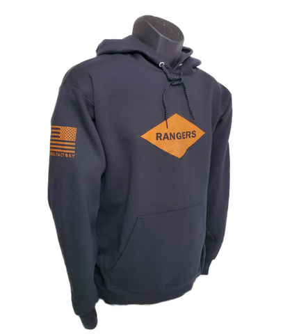 Hoodie Rangers Orange Diamond - Back Order