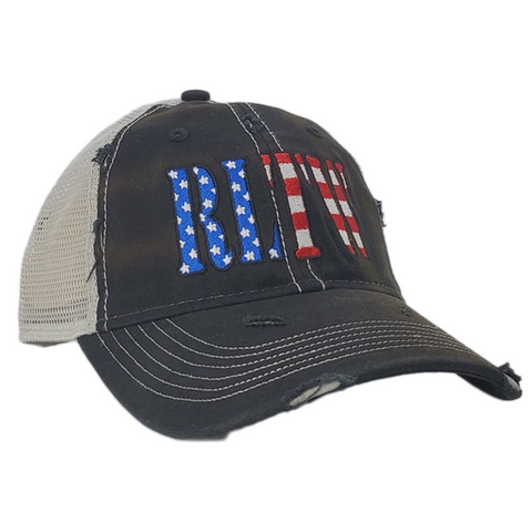 RLTW Flag Black Weathered Trucker