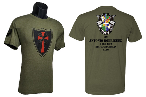 "SFC Antonio ""ROD"" Rodriguez Memorial shirt"