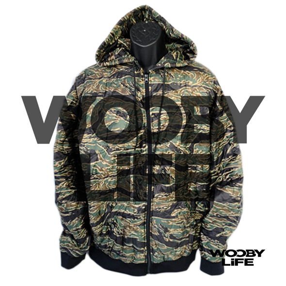 Wooby Life - Tiger Stripes Zipper Hoodie Back Order