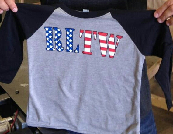 Baseball Shirt - Kids RLTW Flag