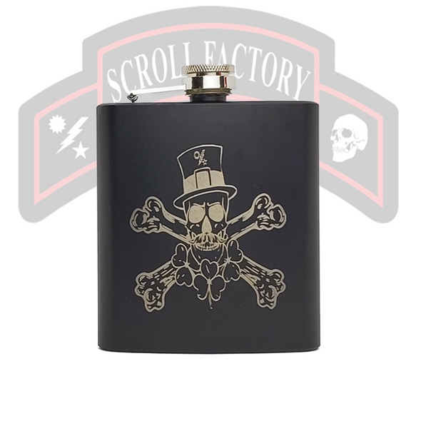 Flask - St Patrick's Day Skull