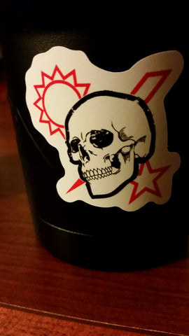 Sticker - Scroll Skull DUI