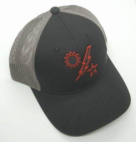 Hat - Richardson 75th DUI Raised Outline Black and Red