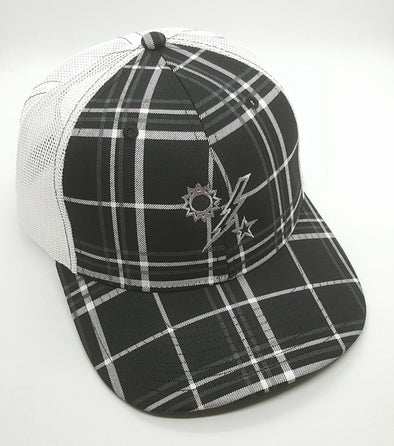 Hat - Richardson Black Plaid 75th DUI outline