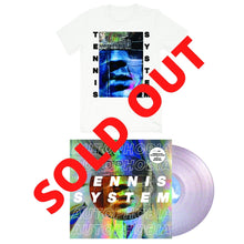 "Load image into Gallery viewer, Tennis System ""Autophobia"" White Shirt + Holographic Vinyl Bundle (Pre-Order)"