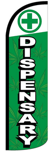 Dispensary Windless Stay-Open Flag Banner