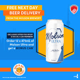 Molson Ultra Free Can Offer