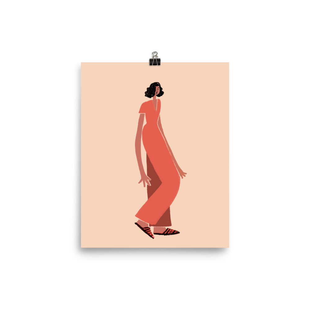 Red Jumpsuit - Art Print