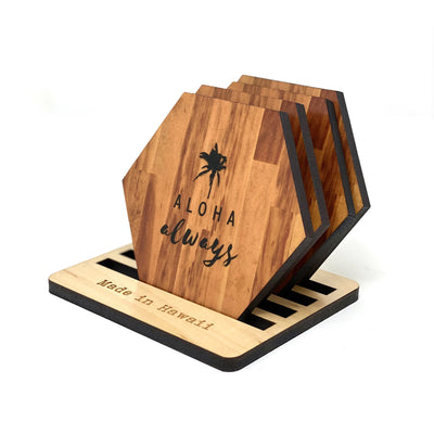 ALOHA ALWAYS HEX COASTER SET