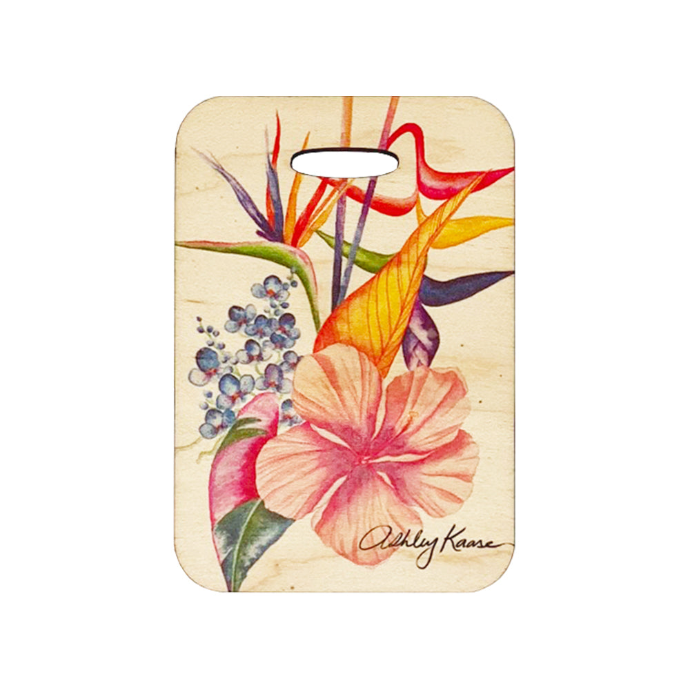 BOTANICAL BLEND WOOD BAG TAG