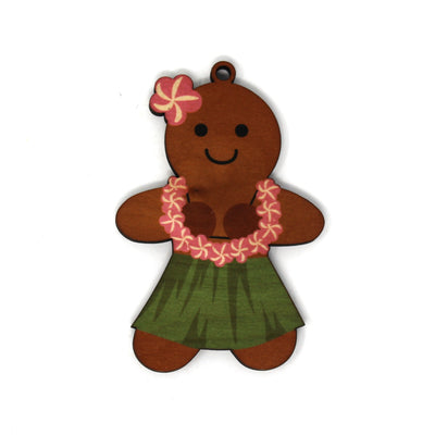 GINGERBREAD HULA GIRL ORNAMENT