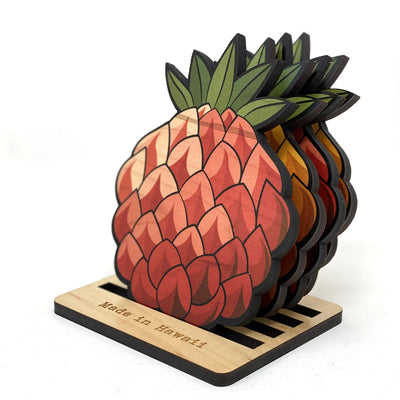 PINEAPPLE CUTOUT COASTER SET