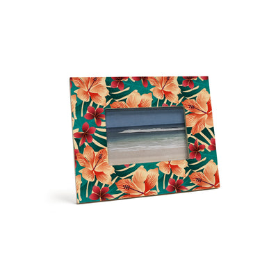 HIBISCUS MONSTERA 4X6 PICTURE FRAME