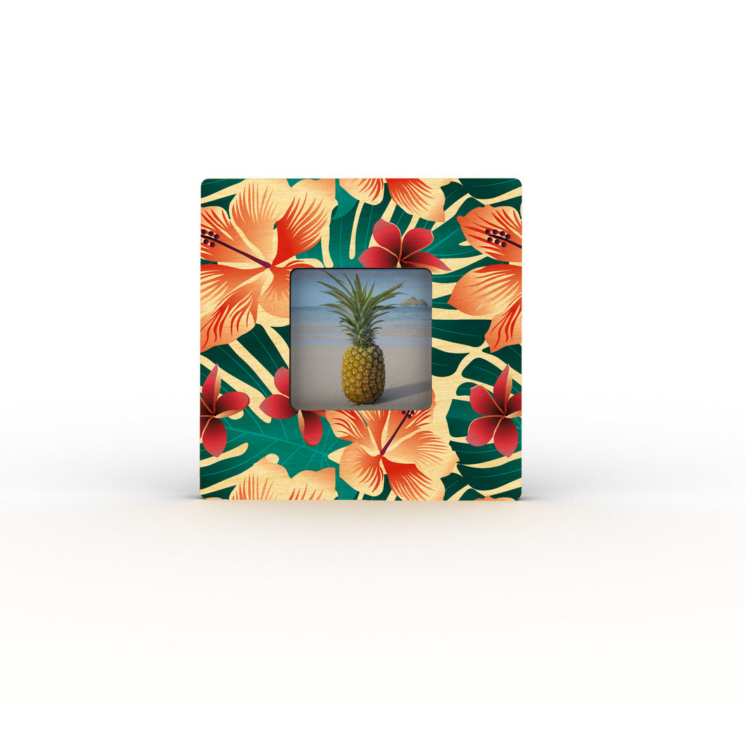 HIBISCUS MONSTERA MINI PICTURE FRAME