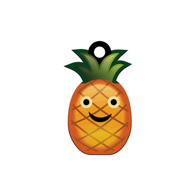 COCOMOJI PINEAPPLE SMILE KEYCHAIN