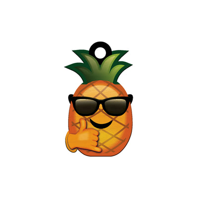 COCOMOJI PINEAPPLE SUNGLASSES KEYCHAIN