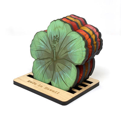 HIBISCUS CUTOUT COASTER SET