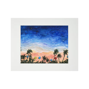 BEACH DAY MATTED PRINT