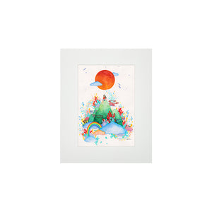 HAWAII STATE OF MIND MATTED PRINT