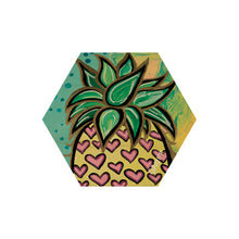 Load image into Gallery viewer, PINEAPPLE HEX COASTER SET