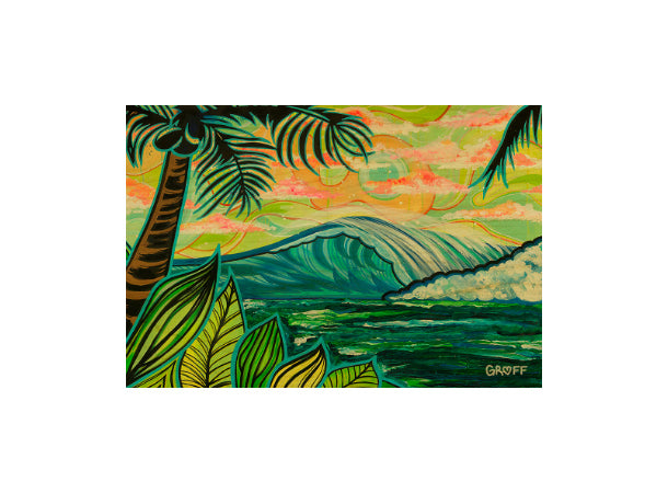 PALM AND WAVE POSTCARD