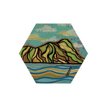 Load image into Gallery viewer, WAVES & MOUNTAINS HEX COASTER SET