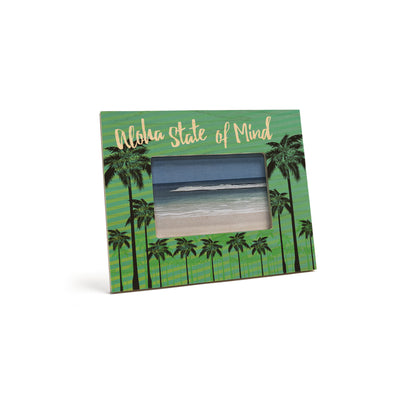 ALOHA STATE OF MIND PALMS 4X6 PICTURE FRAME