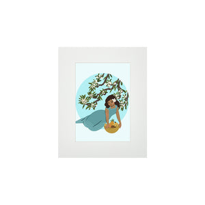 FRUIT BASKET MATTED PRINT