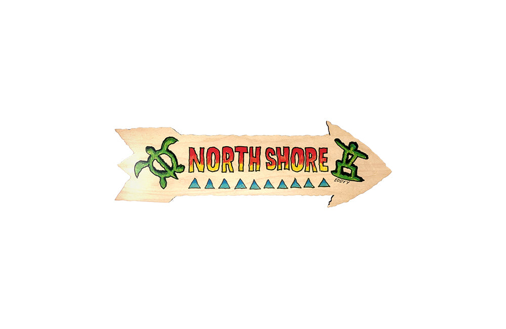 NORTH SHORE DIRECTIONAL SIGN